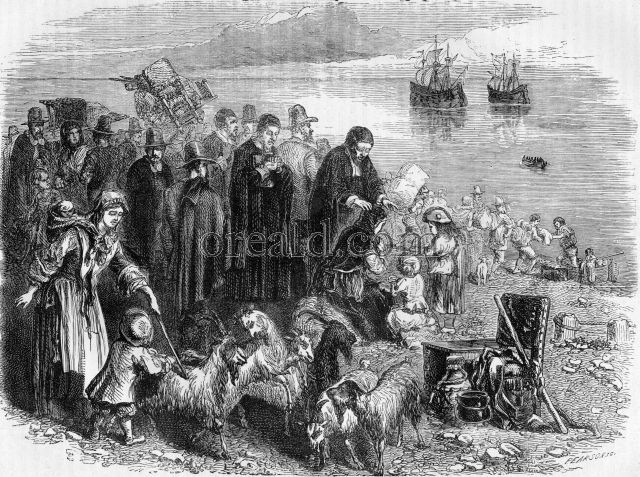The Puritans embarking for the colonies